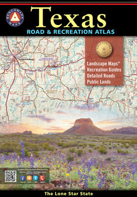 Benchmark Maps State of Texas Road & Recreation Atlas
