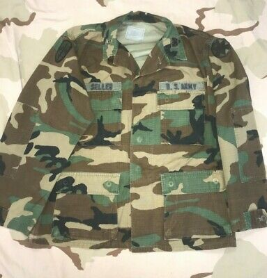 8234c410e3940 Us Army Camo Bdu Shirt Named Jacket Vintage Warrant Officer Vietnam Command