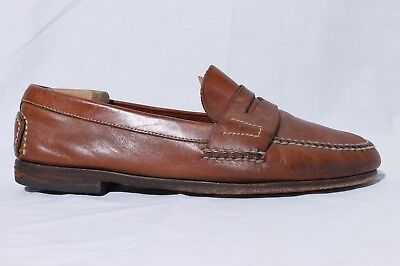 9175c5e2665 Cole Haan Country Men s Brown Leather Moc Toe Penny Loafer Dress Shoes sz  10M