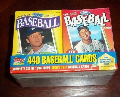 Topps Cereal  Set 1996 Mickey Mantle inserts 4 box set 444 cards set 5 a,b, c, d