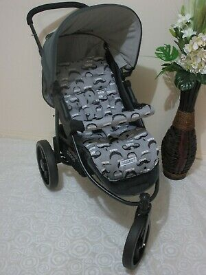 Handmade pram liner set-Moustaches-100% cotton*Funky babyz,SALE*