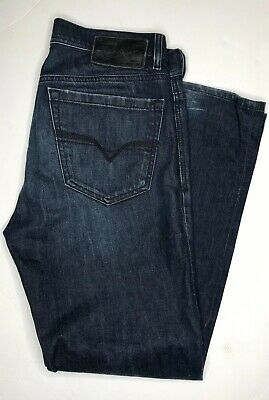58e1e5ed Diesel Quratt Jeans Sz 31 X 30Relaxed Straight Distressed Wash Made In Italy