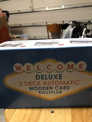 Welcome Deluxe 2 Deck Automatic Wooden Card Shuffler
