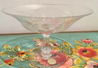 Vintage Crystal Footed Bowl Made In England