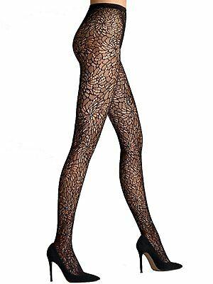 a79e5b5f3 WOLFORD Lace Black Tights with Swarovski Crystals Sz S Ret  140 New Packaged