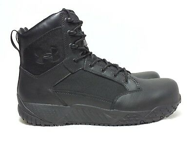 EUC Under Armour Stellar Protect Men's Tactical Comp Toe Boots Black Sz 13 (US)