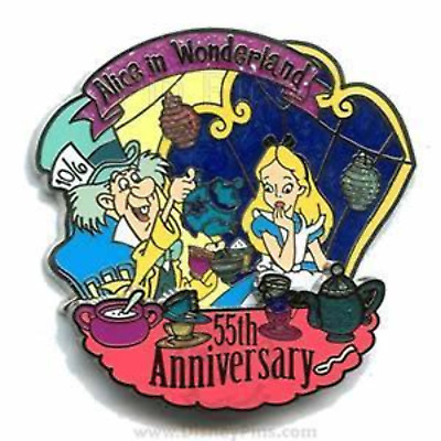 Alice in Wonderland Mad Hatter 55th Anniversary LE Tea Party Disney Pin 47896