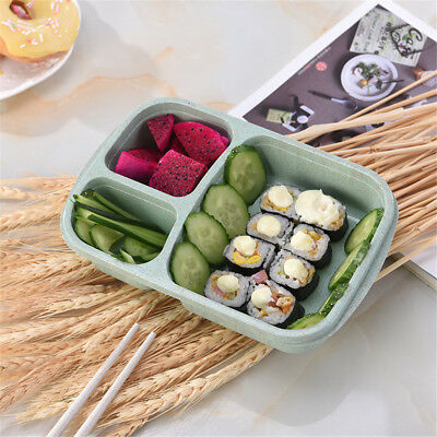 Eco-friend Microwave Bento Lunch Box Travel Picnic Food Container Storage Green