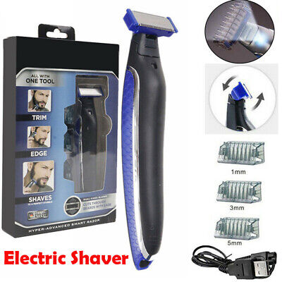 MicroTouch Micro Touch Mens Electric Shaver USB Rechargeable Trims Edges Razor