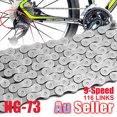 9 Speed Deore 116 Links SHIMANO 105 MTB Bicycle Chain CN-HG73 LX for Bike