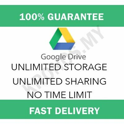 GOOGLE DRIVE UNLIMITED added to your Google Account - $12 00