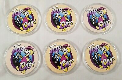 TOP CAT Coasters set of 6 Retro Collectable