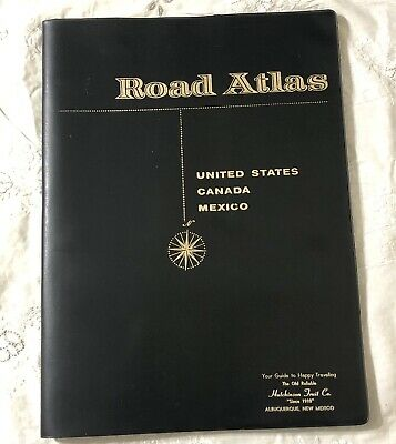 Vintage Rand Mcnally Road Atlas Map USA Canada Mexico With Cover