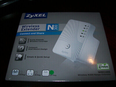 NEW! ZYXEL WIRELESS N300 Range Extender WRE2205 BRAND NEW & FACTORY SEALED!