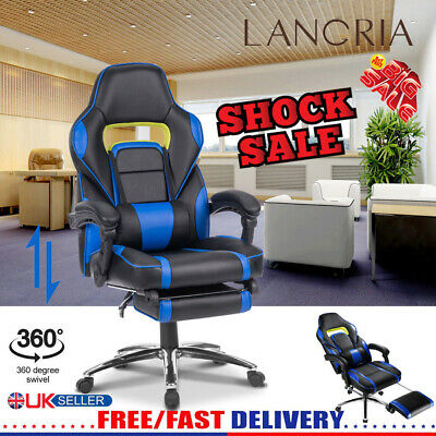 Ergonomic High-Back Faux Leather Recline Computer Gaming Executive Office Chair