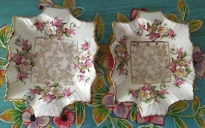 Beautiful Pair Of Antique/vintage James Kent LTD Longton Made In England  Dishes