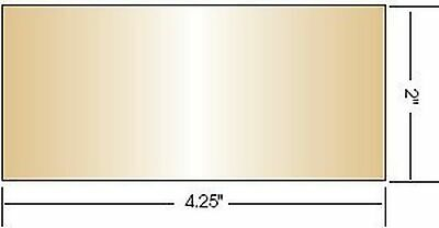 """Gold Coated Green Welding Filter, 2"""" x 4.25"""" (Shade 11) Shade 11 NEW"""