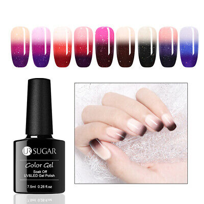 UR SUGAR 7.5ml Thermal Soak Off Gel Polish 3 Layers Color Changing Nail UV Gel