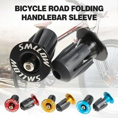 1 Pair MTB Road Bike Bicycle Aluminum Alloy Handlebar Grips Bar End Cap Plug UK
