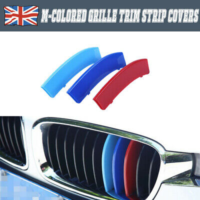 New For BMW 3 4 Series 3 Color ABS M-Sport 11 Column Car Front Grille Trim Strip