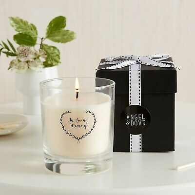 Angel & Dove 'In Loving Memory' Remembrance Candle - Sympathy Gift Boxed Funeral