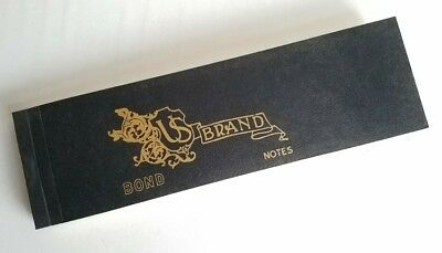 Rare Original Antique Gibsons Book of U.S. Brand Bond Notes NOS