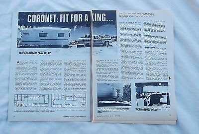 Coronet Caravan Article Removed from a Magazine