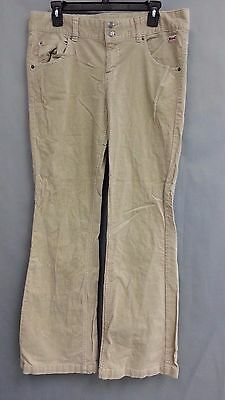 2bb2bb2f27e Le Tigre Junior's Tan Khaki Cords Bootcut Corduroy Pants Size 15 Stretch