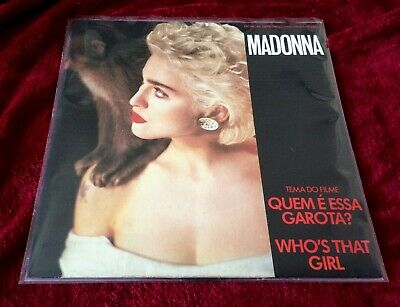 Madonna Who's That Girl Promo Brazil rare press release A-Ha The Living Dayligts