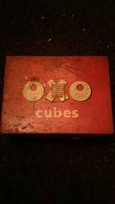 Vintage / Retro OXO cubes tin