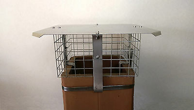 Square Galvenised Steel Chimney Cowl/ Bird Guard *FREE POSTAGE*