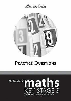 """""""VERY GOOD"""" The Essentials of Maths: Key Stage 3, Levels 5-8: Tier 5-8, Proctor,"""