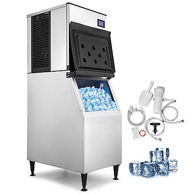500 Lbs/24H Commercial Ice Maker Machine LB-400T Ice Spoon Digital Control