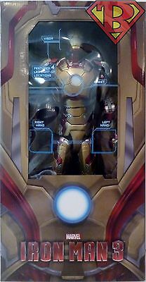 """IRON MAN 3 MARK 42 ARMOR 1/4 Scale 18"""" inch Action Figure with LED's Neca 2017"""