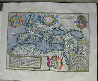 1603 or 1609 ANCIENT MAP of the ROMAN EMPIRE by Abraham Ortelius