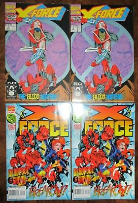 X-Force #2 #47 2X Copies each Early DEADPOOL appearances Cable X-Men Liefeld