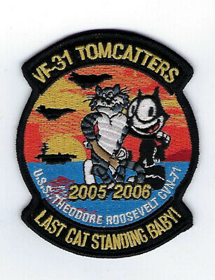 Vf-31 Felix 2006 Last Cruise Hat Patch Us Navy Uss Roosevelt Cvn-71 Pin Up Cat