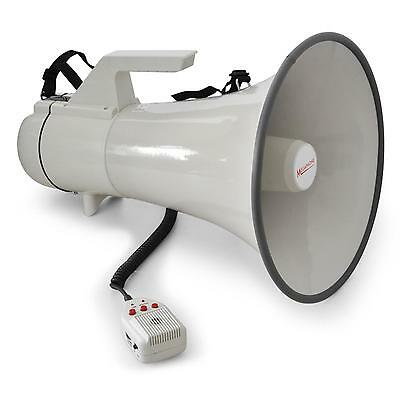Super Megaphone Auna Micro Main Sirene Football Enregistrement 45W Portee 1,5Km