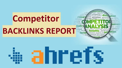Give You Ahref Reports For Your Company Or Competitors- Premium Package
