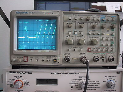 Cal'd TEKTRONIX 2440 300MHz OSCILLOSCOPE; guaranty, opt.5 tv sync avail for xtra