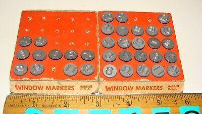 Lot of Antique Vintage Acro Hold-Tite Numbering Tacks Window Markers