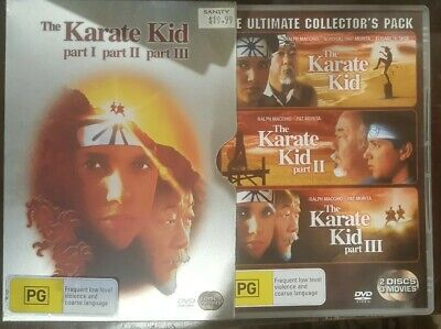 The Karate Kid 1 2 3 Ultimate Collector's Pack Metal Cover Dvd Trilogy Macchio