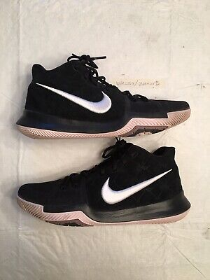 f1518f85a6c Nike Kyrie 3 III  Silt Red  Blk Wht 852395-010 Size 10.5