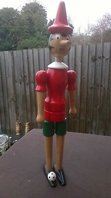 Large  Wooden Pinocchio - marionette football! 16.5 inch