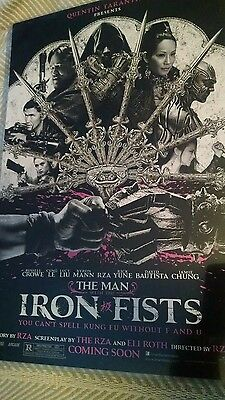 MAN WITH THE IRON FISTS 11x17 PROMO MOVIE POSTER