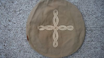 U.S.M.C. WWII Officers Tan Cotton Visor Hat Top