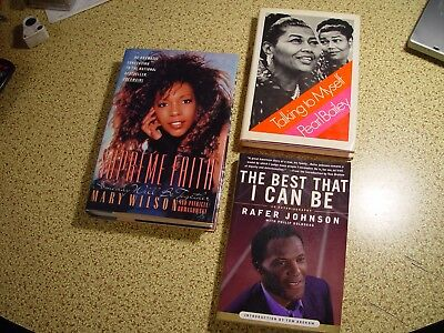 Pearl Bailey Rafer Johnson Mary Wilson 3 Signed Books
