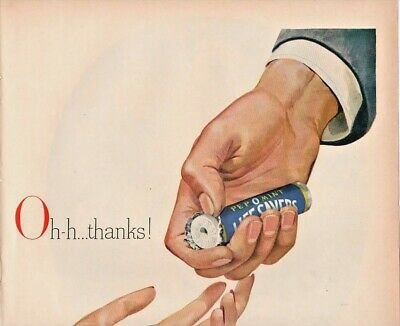 1948 Lifesavers Vintage Print Ad Pepomint Oh Thanks Same Old Price Just 5 Cents