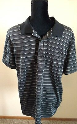371e25e11 ALFANI Slim Fit Men s Performance Golf Short Sleeve Polo Shirt Black Size XL