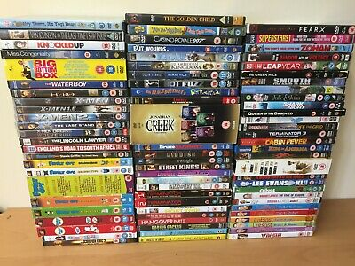 79 MIXED USED DVD JOBLOT - WHOLESALE - RESALE- PERFECT FOR CAR BOOT or VIEWING !
